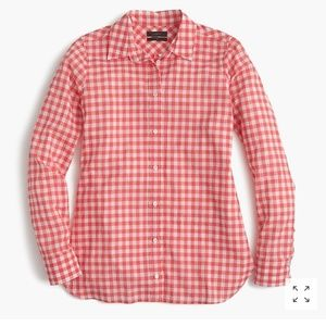 J. Crew Gingham Button Down Perfect Shirt